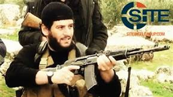 The above photo shows IS spokesman Abu Muhammad al-Adnani before his death. (AP=Newsis)